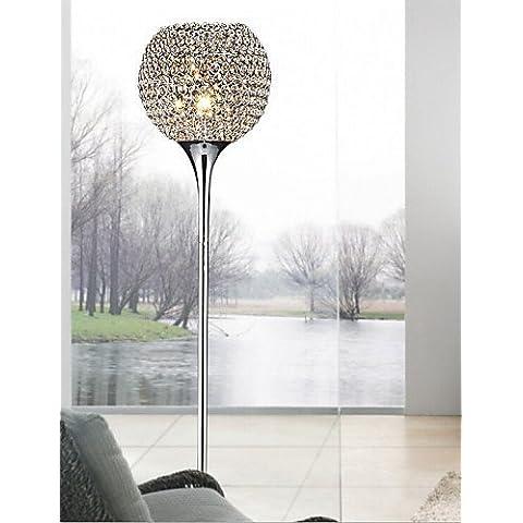 ASNSWDC® 40w luz cristal piso lámpara de pie moderna y creativa enviar bulbo e27 , warm