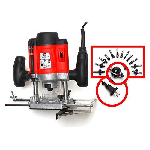 DeTec Set Oberfräse Fräsmaschine Fräse OF 1200 Watt Tisch-Fräsmaschine + Oberfräsentisch OFT 870 - 2