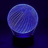 NUÜR Basketball 3D LED Illusions Lampe Nachtlicht Stimmungslicht für Kinder - 7 Farbwechsel mit Fernbedienung - USB-Kabel & Batterie Betrieben - Geschenk Für Weihnachten, Geburtstag