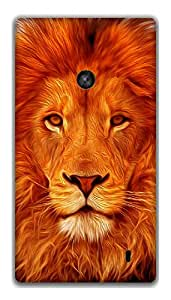 The Racoon Lean Face of the Lion hard plastic printed back case / cover for Nokia Lumia 520