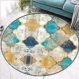 Area Rug for Living Room Vintage European Moroccan Style Round Carpet Carpet Kids Room Bedroom Rug Christmas Rug