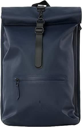 RAINS Roll Top Uomo Backpack Nero