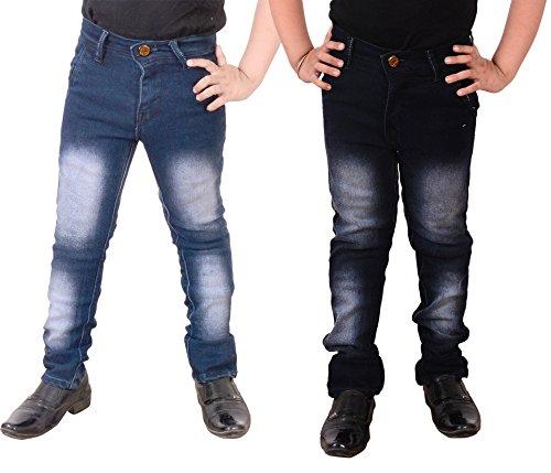 Guchu Boys Jeans Combo, Pack of 2(A5-LB-DB-B-40)