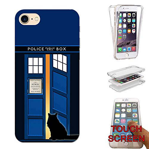 Open-box Apple (000453 - Doctor Who Tardis Call Box Cat Open Door Design Apple iphone 8 Plus 5.5