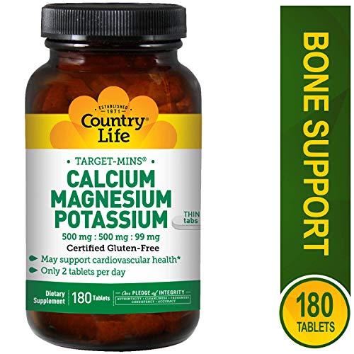 Country Life Target Minuten Calcium Magnesium Kalium 500mg/MG/99mg 180-tablet - Calcium-magnesium-formel
