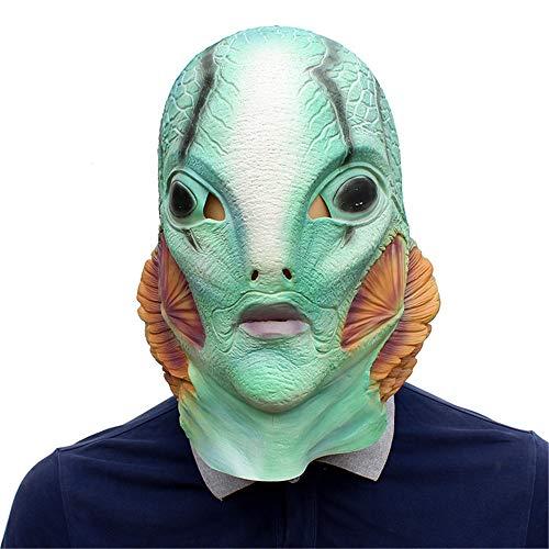 Guowy Halloween Maske - Hellboy Maske Halloween Weihnachten Latex Maske ()