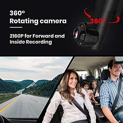 Yakola-Y9-Wifi-DashCamDual-mini-Autokamera-Full-HD2160P-Frontkamera-mit-720PAHD-Rckfahrkamera-360Panorama-Fischaugen-LinseInfrarot-NachtsichtParkmonitorG-Sensor-Loop-AufnahmeIP68-Wasserdicht