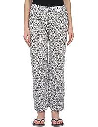 Fflirtygo Women Pyjama Cotton, Night Dress, Lounge Wear, Black and White Print Pyjama,–Soft Cotton Night Wear