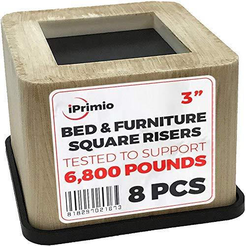 aus Bambus (Kunststoff) Schreibtisch Couch, Stuhlerhöhung (Pat. Pending) Robuster Gummi-Boden kratzt Keine Böden, Standhilfe, geprüfte Teststützen + 6 kg (8 Stück) ()