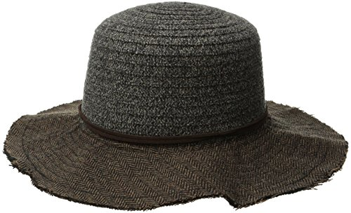san-diego-hat-company-womens-chenille-crown-with-floppy-hat-brown-one-size