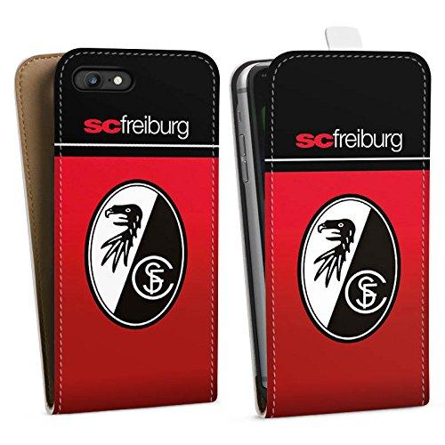 Apple iPhone 6 Silikon Hülle Case Schutzhülle SC Freiburg Fanartikel SCF Fussball Downflip Tasche weiß
