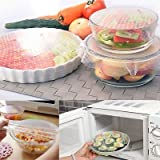 #5: Almand Set of 4 Silicone Seal Bowl Covers and Food Stretch Lids Reusable Keep Food Fresh Plastic Wrap for Environmental Kitchen Tools