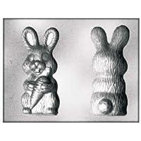silikomart 70.203.99.0060902346– Molde con Varias cavidades para Chocolate/Helados en Forma de pequeño Conejo con Zanahoria/PETG plástico Transparente 4,5x 18,5x 31,5cm