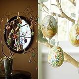 100 Aufhänger für Ostereier + 100 bunten Bändchen geeignet zum Aufhängen, für die Dekoration des Osterstraußes verwenden and ein sehr schönes Geschenk zu Ostern