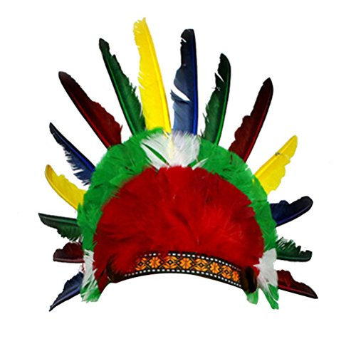 Kopfschmuck Headwear Feather Hat Party Requisiten (Kindes Indischen Kostüm Muster)