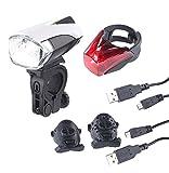 KryoLights Fahrrad LED: Set: LED-Fahrradlampe FL-211 & Rücklicht mit Akku, StVZO (LED Fahrradlicht) -