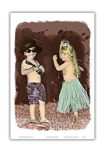 Pacifica Island Art Himani Kunstdruck Let's Dance - Hawaiian Kinder (Keiki) Spielen und Tanz - Original handgefärbtes Foto von Himani - Hawaiian Master Art Print 12