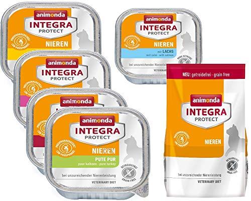 Zoolox Animonda Katze Integra Protect Nieren Mix-Paket 16 x Feuchtfutter + 300g Ttrockenfutter