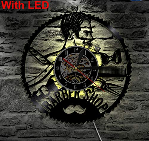 SKYTY Barber Wall Lamp, Night Light Function, Original Barber Shop Interior Decor, Wall Lights with Led 12Inch Night Lights Shop