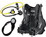 Cressi Travel Int Scuba Set, Schwarz, S