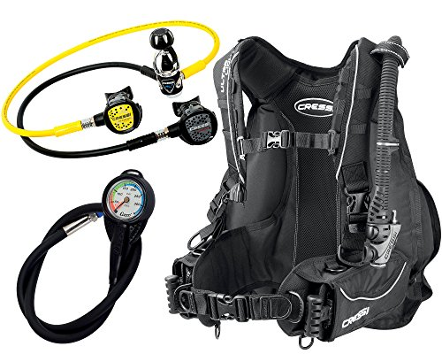 Cressi Travel Scuba - Set de buceo unisex, color negro, talla M