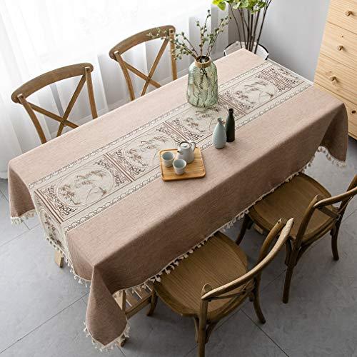 Pahajim tovaglia in stile cinese, tovaglie rettangolari antimacchia tovaglie resistenti alle rughe cotone riusabile casa cucina cena picnic tovaglia decorazione da tavolo(rettangolo/ovale,140x220cm)