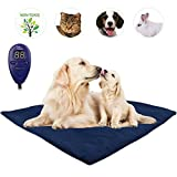 Pet Heating Pad, Upgraded Dim 20IN Electric Heating Pad for Dogs &Cats Warming Dog Beds Pet Mat with Resistant Cord Replace Fleece Cover