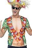 Smiffys Déguisement Homme, T-shirt hawaïen, Impressions décoratives, Taille M, Couleur: Multicolore, 45541