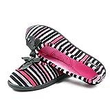 Zapatilla Mujer de Estar por casa Tipo salón ISOTONER, Planta ergonomica y Suela Antideslizante - 93512-1 (37 EU, Bicolor)