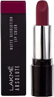 Lakmé Absolute Matte Revolution Lip Color, 502 Burgundy Blast, 3.5 g