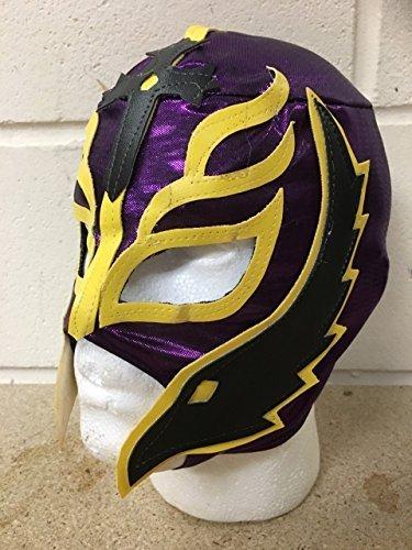 Rey Mysterio - lila - Reißverschluss Maske - Brand Neu - WWE Wrestling Kostüm Verkleidung Kostüm Outfit (Wwe Wrestling Outfits)