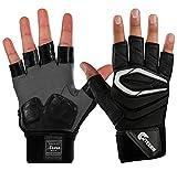 Cutters Gloves Adult Force.5 2.0 Finger Lineman Gloves, Black, Medium