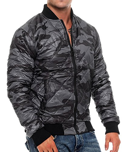 Hommes Smith And Jones Romane Rembourré Veste Camouflage Noir Camouflage