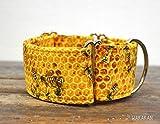 Collar Martingale Para Perro: Bee Sweet, Hecho a Mano en España por Wakakán