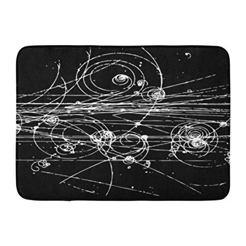 Nerd Bubble Chamber Geek Science Physik Partikel Badezimmer Dekor Teppich ()
