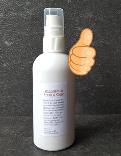 Volle Windeln, und der Geruch? Windeleimer Fresh & Clean - Geruchsneutralisierer Bio-Logischer Geruchsentferner - Geruchsbinder - Geruchskiller für stinkende Windel/Mülleimer - Mülltonne - Biotonne.