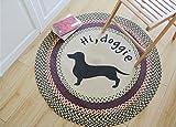 ZiXuan Teppich Pure Wool Teppich Wohnzimmer Schlafzimmer Full Teppich Runde (größe : Diameter 100cm)