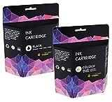 2 Cartridges Kingdom Tintenpatronen kompatibel zu Canon PG-540XL & CL-541XL (Schwarz, Farbe)