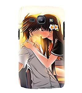 Love Couple 3D Hard Polycarbonate Designer Back Case Cover for Samsung Galaxy J2 (2016)