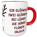 Kinderlampenland personalisierte Tasse Glühweintasse EIN Glühwein. mit Rentier mit Wunschnamen Geschenk Namenstasse Henkeltasse Henkelbecher