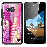 OB-star ( Flower Of Hyacinth Dolichos ) NOKIA Lumia 550 Colorful Peau Imprimé Protection Dur Retour Housse Shell