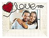 ZEP Annamaria Horizontal - Portafotos romántico de madera en tamaño 10x15