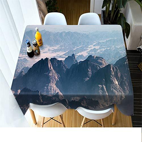 QWEASDZX Tischdecke Einfache Persönlichkeit Polyester 3D Digitaldruck Dekorative Tischdecke Ölbeständig Und Wasserdicht Rechteckige Tischdecke Geeignet Für Innen Und Außen 140x200 cm