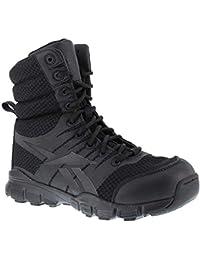 Reebok de Hombre Dauntless 8-Inch sin Costuras Laterales con Cremallera Boots-Black,…