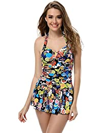 SZIVYSHI Woman 1 Piece Swimsuit Monokini swim dress