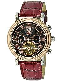 Constantin Durmont Herren-Armbanduhr XL Salinas Analog Automatik Leder CD-SALI-AT-LT-STRG-BK