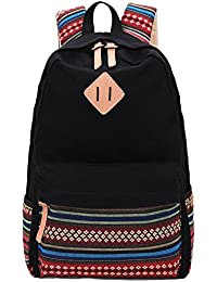 8494cbb94c Hmxpls Unisex Fashionable Canvas Zip Bohemia Boho Style Backpack School  College Laptop Bag for Teens Girls