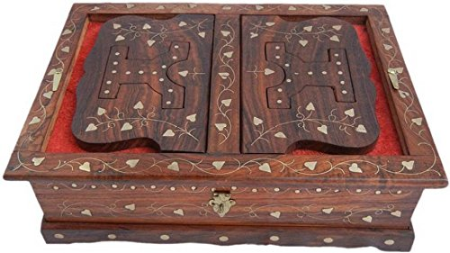 Azeem Arts Wooden Hand Carved Rehal Box Full Brass Design, Holy Books...