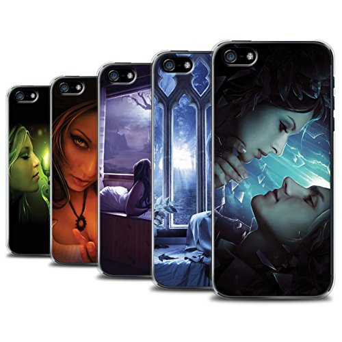 Officiel Elena Dudina Coque / Etui pour Apple iPhone 5/5S / Pack 7pcs Design / Art Amour Collection Pack 7pcs