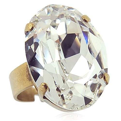 Anillo con cristales de Swarovski - oro crystal